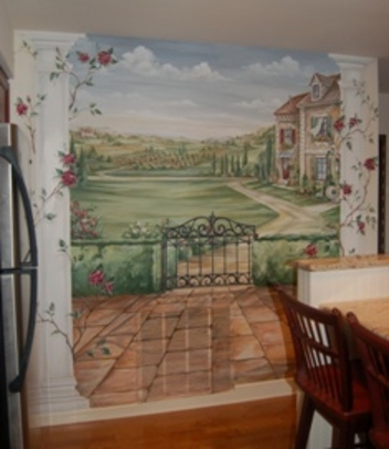 Bon Murals, MacMurray Designs MacMurray Murals Renee MacMurray Boston Mural  House Portraits HANOVER, MA Kitchen Murals